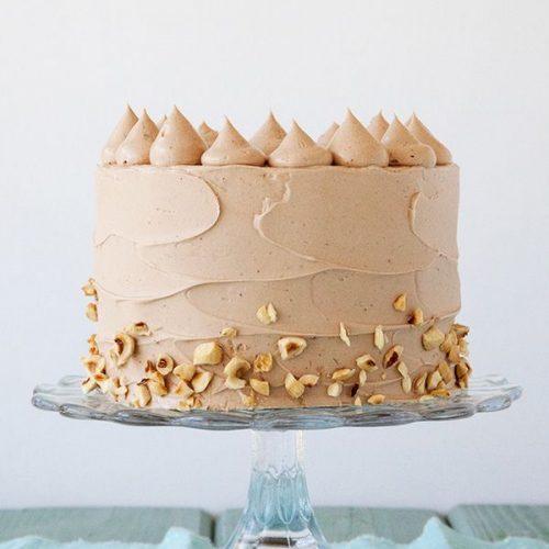 Banana Choco Hazelnut Cake